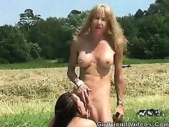 2 Lesbians Have Fun In Nature