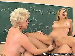 Two Mature Horny Ladies Get Fucked Hard