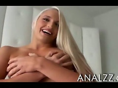 Big tits blonde girlfriend pounded deep down and facialized