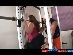 Short round BBW fucked by her sport instructor