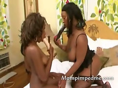 Black lesbians in double pussy licking while sixty nining woo yeah