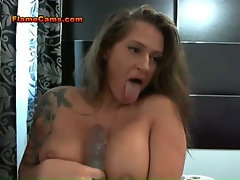 Busty Tattooed Squirter