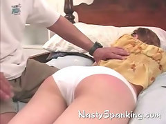 Teen gets spanked in hot roleplay