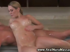 Horny massage blondie bitch