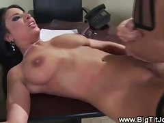 Office whore gets fucked and facial from lucky boss
