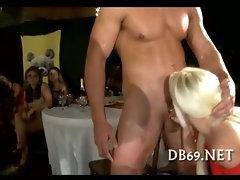 Fat discussing bitch sucking dick
