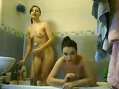 2 teens took a shower together