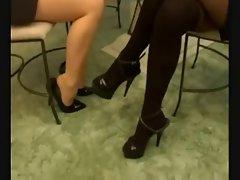 girl rub Teacher&amp,#039,s feet D10