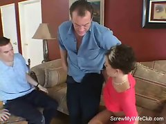 Swinger Wife Screws Stranger, Hubby Likes!