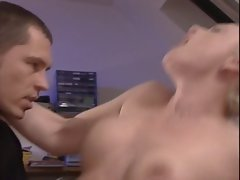 hot german girl knows how to satisfy two friends with DP