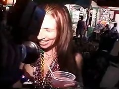 Lactating girl at fantasy fest squirt milk