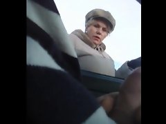 Rus Public Masturb CAR Flash Watching GIRL 54 - NV