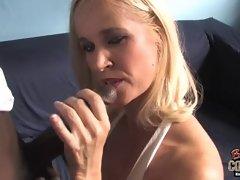 Mature mom Tabitha takes big black cock