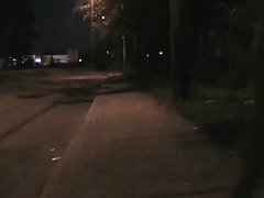 Fanny cd cumming on a public street