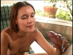 Hot chick loves to give handjobs