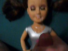 Brunette Doll In Pigtails Taking a Huge Thick Facial Cumshot