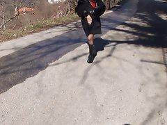 Walking in the village 2