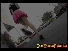 Upskirt Public Flashing with Charlotte S.