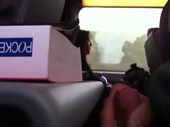 Masturbation on public train