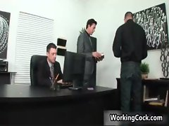 Seth Roberts fucks and sucks on office gay porn