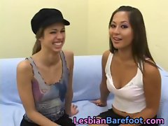 Cute Young Lesbians Licking and Dildo