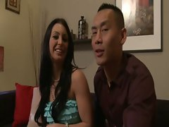 AMWF Jackie Daniels interracial with asian guy