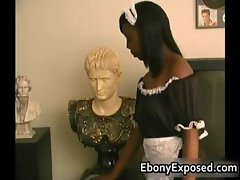 Busty Ebony have some Handjob of their