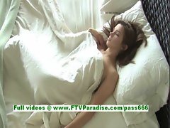 Sabrina superb redhead babe having fun on the bed