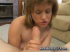 Sexy bigtits hot girlfriend polishing