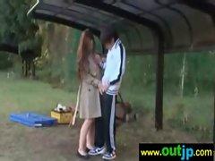 Outdoor Sexy Teen Asian Get Nailed video-19
