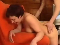 Russian redhead wife cheating with younger stud