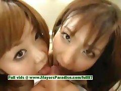 Nao Ayukawa and Rio Hanasaki hot girl naughty Chinese schoolgirls fuck after school