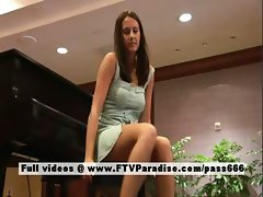 Amanda tender teenage brunette flashing