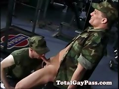 Military oral gay sex