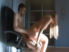 coed fucked by her friend on the chair