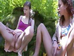 Three russian virgins posing