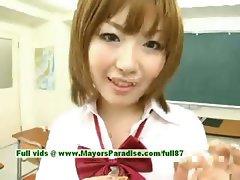 Nao Ayukawa and Rio Hamaski innocent asian girls enjoy fucking with their students