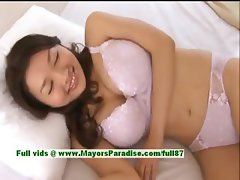 Mai Uzuki innocent naughty asian chick gets undressed and kissing