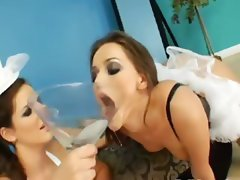 trio of sexy anal lezzies
