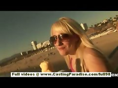 Missy Woods amateur blonde teen girlfriend blowjobs in a public place