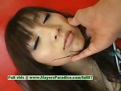 Akari Satsuki innocent lovely asian girl gets nipples licked and posing