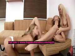 Jodi and Alla and Natalia lesbo teen girls licking