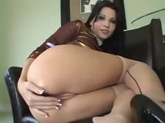 Rebeca Linares close up erotic anal play