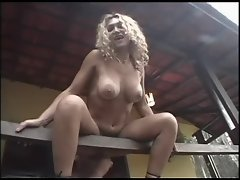 Fucking a Brazilian slut on his deck