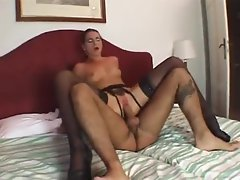 Hairy box on this skinny girl taking big cock