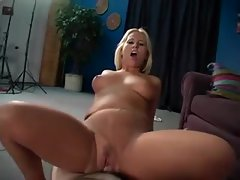 He rips her pantyhose to fuck her wet pussy