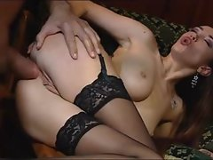 Euro girl is blazing hot and loving it in the ass