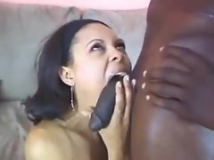She wants to choke on his big cock