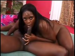 Fat black whore fucked hard in her holes