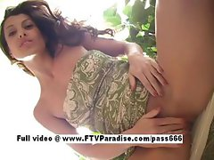 Genuine Genuine teen girl posing naked outdoor
